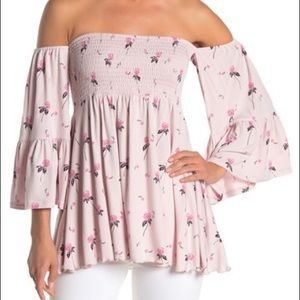 Free People Lana Off Shoulder Bell Sleeve Tunic